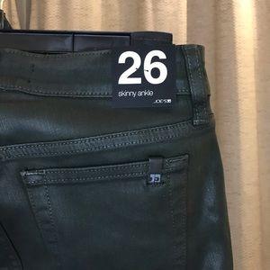 Joe's jeans skinny ankle coated green BRAND NEW